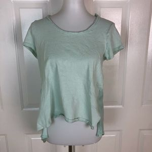 ANTHROPOLOGIE Dolan Green Short Sleeve Hi-Low Top